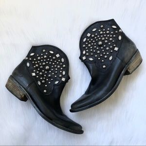lucky brand studded leather cowboy boots